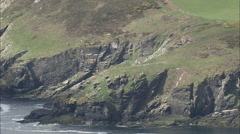 AERIAL Isle of Man-502P Old Mining Area, Foxdale Stock Footage