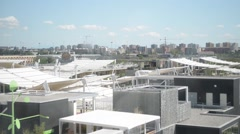 Milan Expo 2015 Pavilions and buildings Stock Footage
