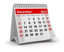 December 2015 - stock illustration