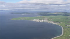 AERIAL Isle of Man-495 Castletown Stock Footage