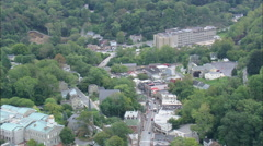 AERIAL United States-Ellicott City And Historic Station Stock Footage