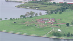 AERIAL United States-Fort Mchenry, Birth Place Of The Star Spangled Banner - stock footage