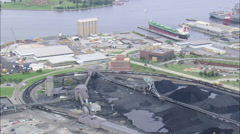 AERIAL United States-Baltimore Harbour Stock Footage