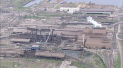 AERIAL United States-Bethlehem Steel Works Stock Footage