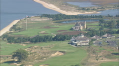 AERIAL United States-National Golf Links Of America 45 Stock Footage