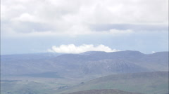 AERIAL Ireland-Wind Farm And Landscape Near Derryveagh Mountains Stock Footage