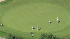 AERIAL United States-Southampton Golf Course 45 Stock Footage