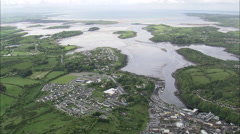AERIAL Ireland-Donegal Bay Stock Footage
