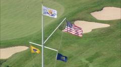 AERIAL United States-Maidstone Golf Club 60 Stock Footage