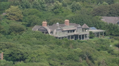 AERIAL United States-Beach Houses At The Hamptons 60 - stock footage