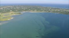 AERIAL United States-Great Salt Pond (End Of Tape So Not Finished) - stock footage