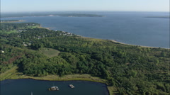 AERIAL United States-Allen Harbour And Calf Pasture Beach - stock footage