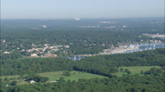 AERIAL United States-Greenwich Cove Stock Footage