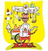 Indian chef - stock illustration