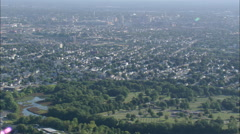 AERIAL United States-Western Suburbs Of Providence Stock Footage