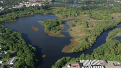 AERIAL United States-Blackstone River Stock Footage