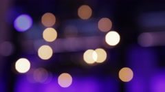 Bokeh Lights with Rack Focus - stock footage