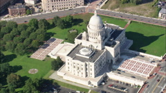 AERIAL United States-State Capital Stock Footage