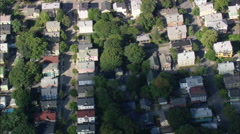AERIAL United States-Federal Hill District Stock Footage
