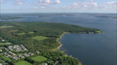 AERIAL United States-Mount Hope Bay And Tiverton Stock Footage