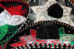 Sequin and decorative ornate mexican hat ready for a fiesta Stock Photos