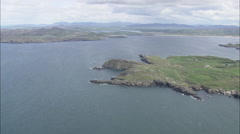 AERIAL Ireland-Dunfanaghy Stock Footage