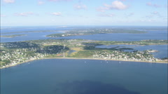 AERIAL United States-Across Sakonnet River To Rhode Island Stock Footage
