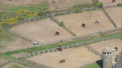 AERIAL United States-Glen Farm Stables - stock footage
