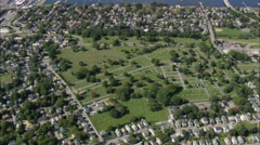 AERIAL United States-Common Ground Cemetery Stock Footage