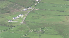 AERIAL Ireland-Narrow Peninsular By Dunkineely Stock Footage