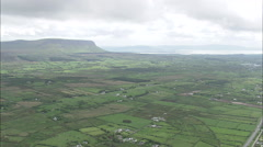 AERIAL Ireland-Cliffoney And Coast Stock Footage