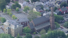 AERIAL United States-St Mary's Church Stock Footage