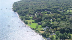 AERIAL United States-East Side Of Conanicut Island Stock Footage