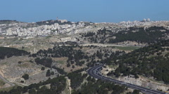 East passage way of road number 01 to Jerusalem, Israel Stock Footage