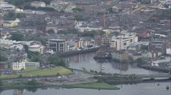 AERIAL Ireland-Sligo Stock Footage