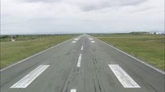 AERIAL Ireland-Landing At Knock Airport Stock Footage