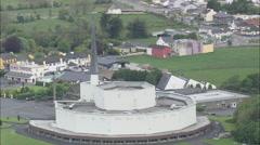 AERIAL Ireland-Knock Basilica Stock Footage