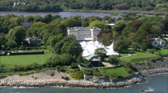 AERIAL United States-Marble House Mansion Stock Footage