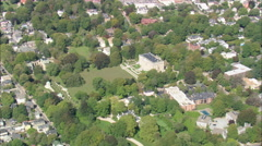 AERIAL United States-The Elms Mansion Stock Footage