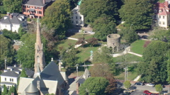 AERIAL United States-Old Stone Mill - stock footage