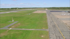 AERIAL United States-New Bedford Municipal Airport Stock Footage