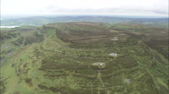 AERIAL Ireland-Ancient Burial Sites On Bricklieve Mountain Stock Footage