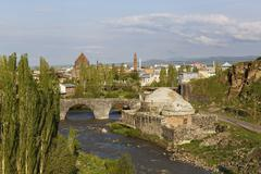 Old Hamam on the River Kars Kars Kars Province Eastern Anatolia Region Anatolia - stock photo