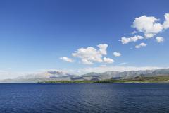 Lake Van Cadir Dagi mountain near Gorundu Van Province Eastern Anatolia Stock Photos