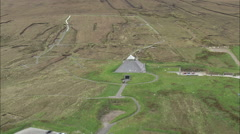 AERIAL Ireland-Ancient Settlement At Ceide Field Stock Footage
