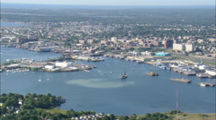 AERIAL United States-New Bedford Harbour Stock Footage