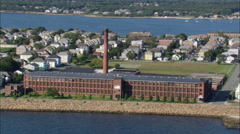 AERIAL United States-Old Mills In New Bedford Stock Footage