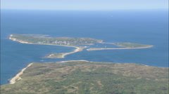 AERIAL United States-Penikese And Slates Island Stock Footage