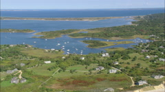 AERIAL United States-Squibnocket Pond Stock Footage