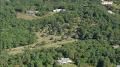 AERIAL United States-Chilmark Cemetery Stock Footage